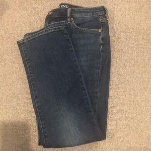 Lands end straight leg jeans 10p